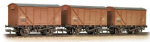Bachmann Branchline 38-185 Weathered Tripple Pack BR ventilated Vans Bauxite (Late)